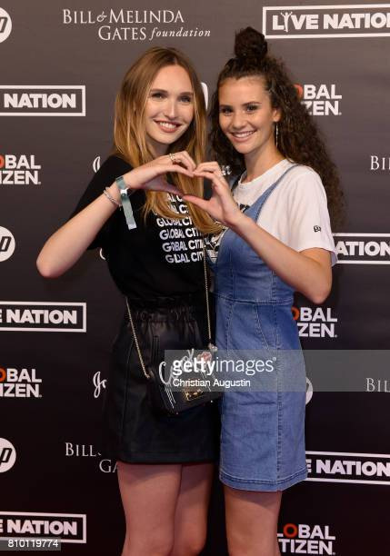 Anna Wilken and Betty TaubeGuenter attend the Global Citizen Festival at the Barclaycard Arena on July 6 2017 in Hamburg Germany
