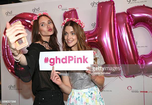 Anna Wilken and Laura Berlin during the ghd Pink Charity Lunch on June 8 2016 in Munich Germany