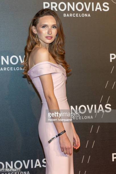Anna Wilken attends Pronovias show during Valmont Barcelona Bridal Fashion Week at Fira Barcelona Montjuic on April 26 2019 in Barcelona Spain