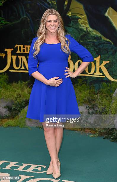 Anna Williamson arrives for the European premiere of 'The Jungle Book' at BFI IMAX on April 13 2016 in London England