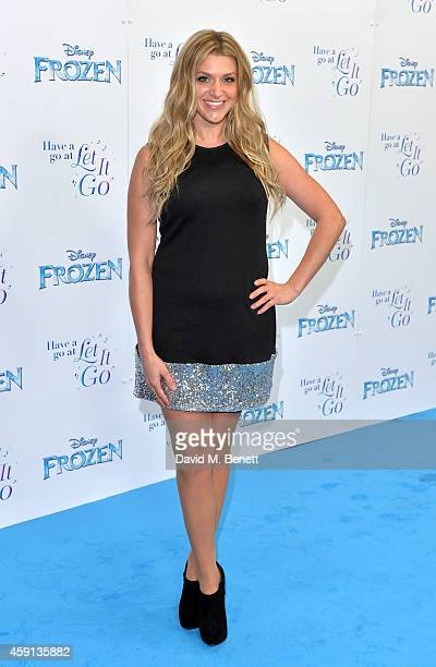 Anna Williamson attends a celebrity singalong from 'Frozen' at Royal Albert Hall on November 17 2014 in London England