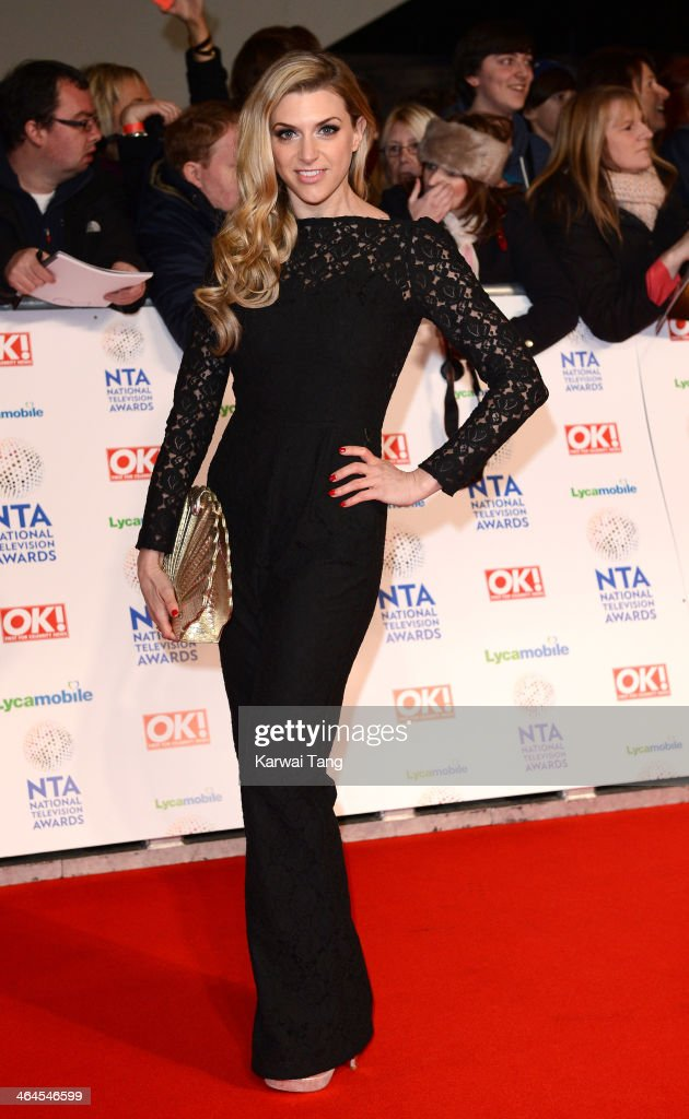 Anna Williamson attends the National Television Awards at the 02 Arena on January 22, 2014 in London, England.