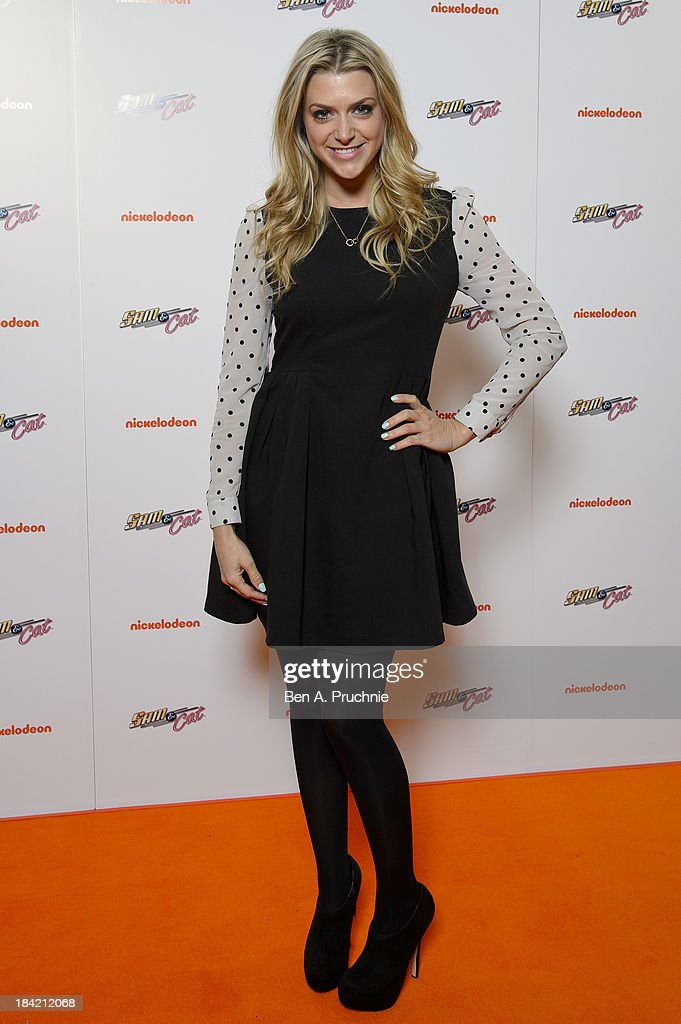 Anna Williamson attends the UK Premiere of Sam & Cat at Cineworld 02 Arena on October 12, 2013 in London, England.