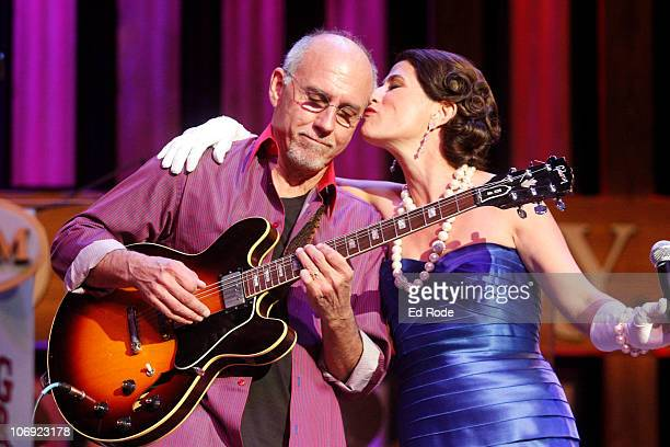 Anna Wilson and Larry Carlton perform at the Ryman Auditorium on November 16 2010 in Nashville City