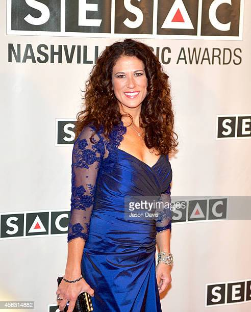 Anna Wilson arrives at the 2014 SESAC Nashville awards at the Country Music Hall of Fame and Museum on November 2 2014 in Nashville Tennessee