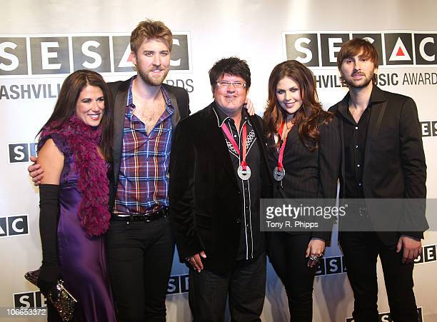 Anna Wilson Monty Powell and Lady Andtebellum attend the 2010 SESAC Nashville Music awards dinner at SESAC on November 8 2010 in Nashville Tennessee