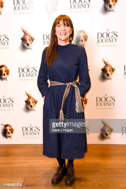 """Anna Wilson-Jones attends a gala screening of """"A Dog's Journey"""" at The Soho Hotel on April 27, 2019 in London, England."""