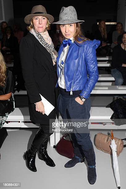 Anna Winslet and Arina Pritch seen at the Maria Grachvogel fashion show at Somerset House on September 17 2013 in London England