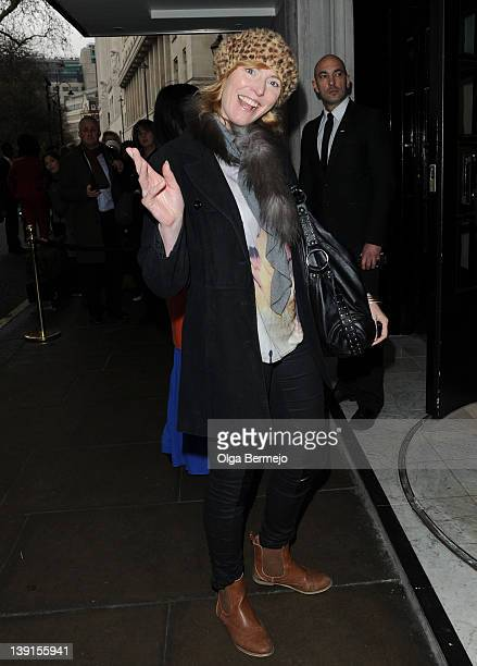 Anna Winslet is sighted at London Fashion Week A/W 2012 on February 17 2012 in London England