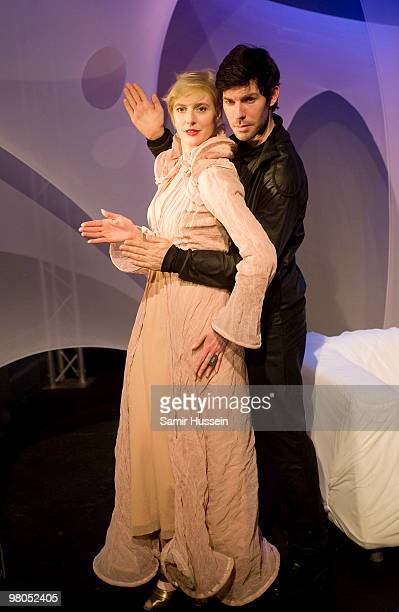 Anna Winslet sister of Kate Winslet and Christoph Dostal star in a scene from 'The Power of Love' at The Courtyard Theatre on March 25 2010 in London...