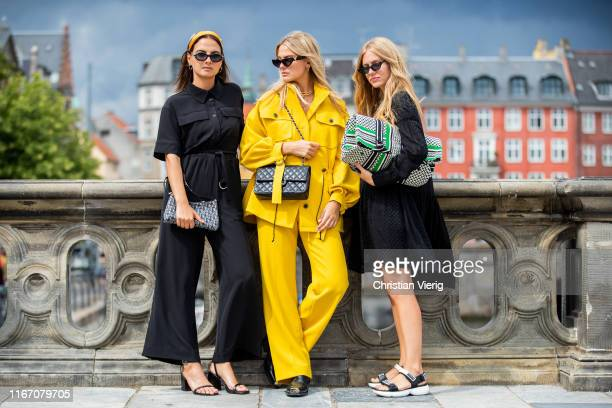 Anna Winter, Alessa Winter, Olja Ryzevski seen outside Lala Berlin during Copenhagen Fashion Week Spring/Summer 2020 on August 08, 2019 in...