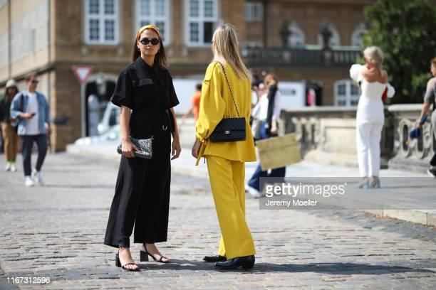 Anna Winter Alessa Winter wearing Lala Berlin on August 08 2019 in Copenhagen Denmark