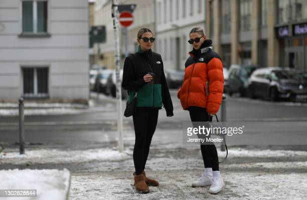Anna Winter and Alessa Winter on February 15, 2021 in Berlin, Germany.