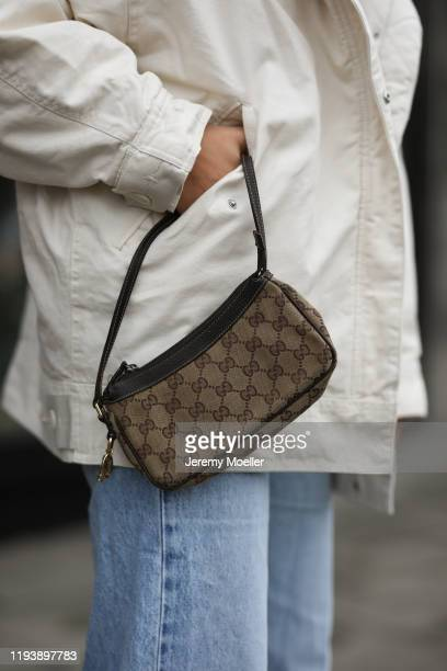 Anna Winter wearing Levis jeans and vintage Gucci bag on December 12 2019 in Berlin Germany