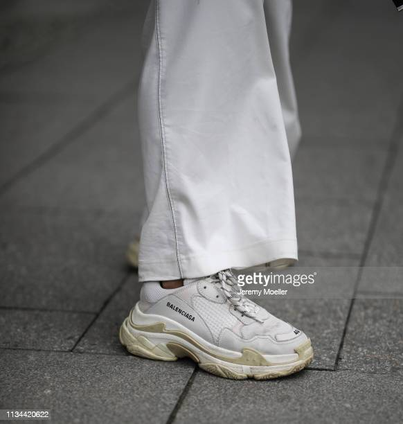 Anna Winter wearing Sportmax pants and Balenciaga triple S on March 07 2019 in Berlin Germany