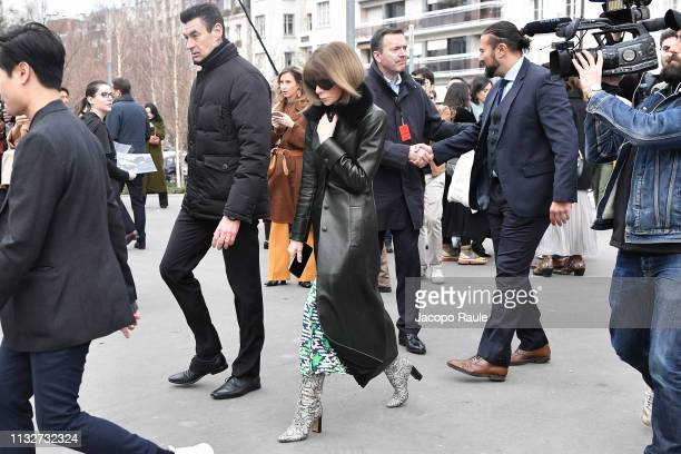 Anna Wintoru attends the Chloe show as part of the Paris Fashion Week Womenswear Fall/Winter 2019/2020 on February 28 2019 in Paris France