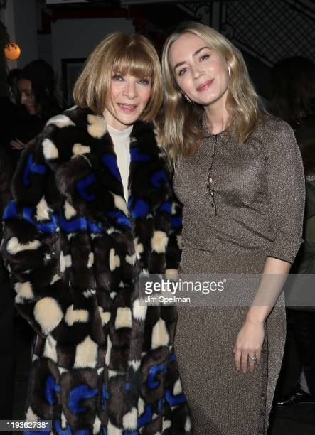 "Anna Wintour and actress Emily Blunt attend the special screening of American Woman"" hosted by Anna Wintour with Gucci and The Cinema Society at..."