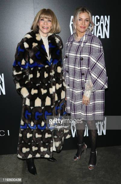 """Anna Wintour and actress Sienna Miller attend the special screening of American Woman"""" hosted by Anna Wintour with Gucci and The Cinema Society at..."""