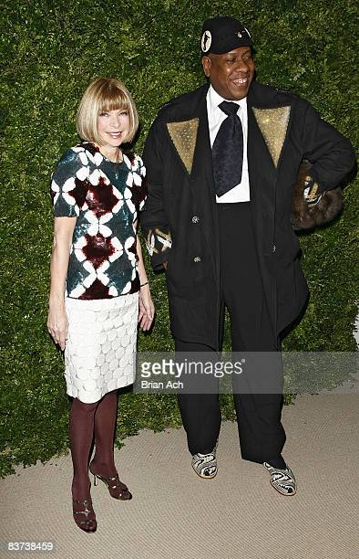 Anna Wintour and Andre Leon Talley attend the 5th Anniversary of the CFDA/Vogue Fashion Fund at Skylight Studios on November 17, 2008 in New York...