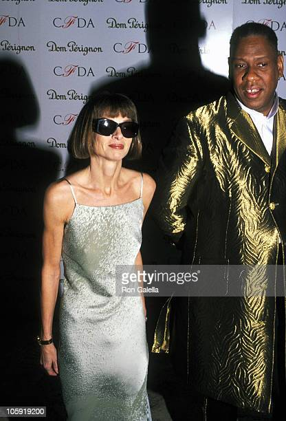 Anna Wintour and Andre Leon Talley during 16th Annual CFDA Awards Gala at New York State Theater at Lincoln Center in New York City New York United...