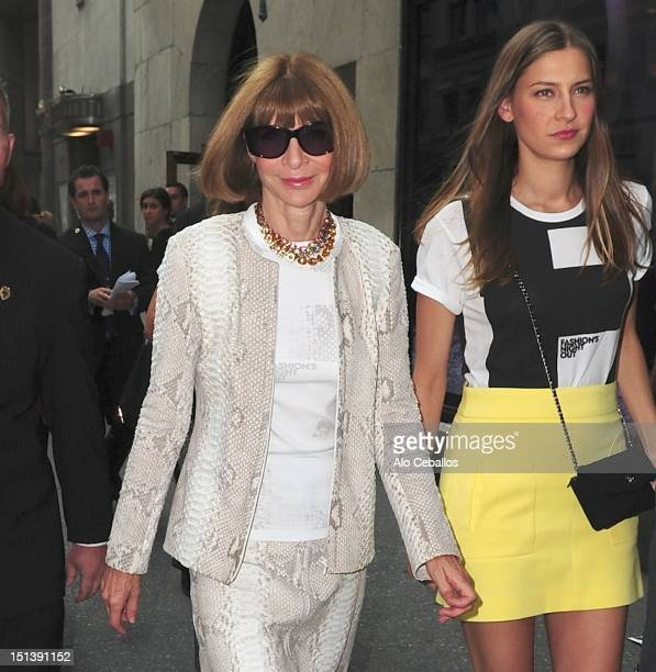 Anna Wintour and Bee Shaffer are seen leaving Bergdorf Goodman on the streets of Manhattan on September 6, 2012 in New York City.