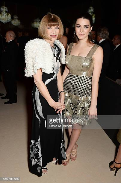 Anna Wintour and Bee Shaffer attend a drinks reception at the British Fashion Awards at the London Coliseum on December 1 2014 in London England