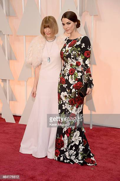 Anna Wintour and Bee Shaffer attend the 87th Annual Academy Awards at Hollywood Highland Center on February 22 2015 in Hollywood California