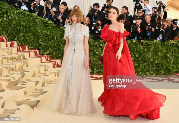Anna Wintour and Bee Shaffer attend the Heavenly Bodies Fashion The Catholic Imagination Costume Institute Gala at The Metropolitan Museum of Art on...