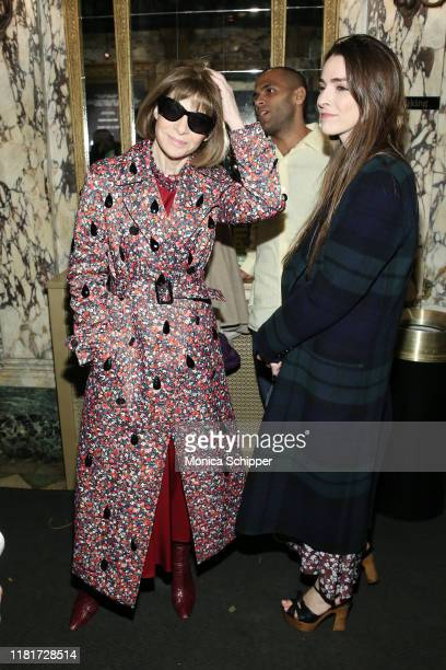 """Anna Wintour and Bee Shaffer attend """"The Sound Inside"""" opening night at Studio 54 on October 17, 2019 in New York City."""