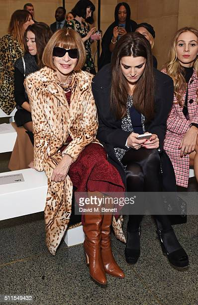 Anna Wintour and Bee Shaffer attend the Topshop Unique at The Tate Britain on February 21 2016 in London England