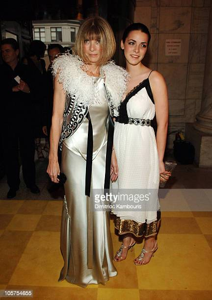 Anna Wintour and Bee Shaffer during 2005 CFDA Fashion Awards Inside Arrivals at New York Public Library in New York City New York United States