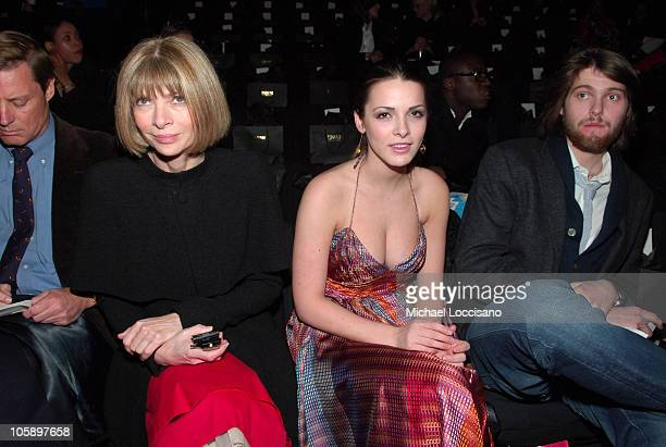 Anna Wintour and Bee Shaffer during Olympus Fashion Week Fall 2006 Zac Posen Front Row and Backstage at Bryant Park in New York City New York United...