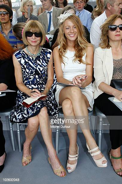 Anna Wintour and Blake Lively attend the Christian Dior Fall/Winter 201011 high fashion show as part of the Paris Haute Couture Fashion Week...