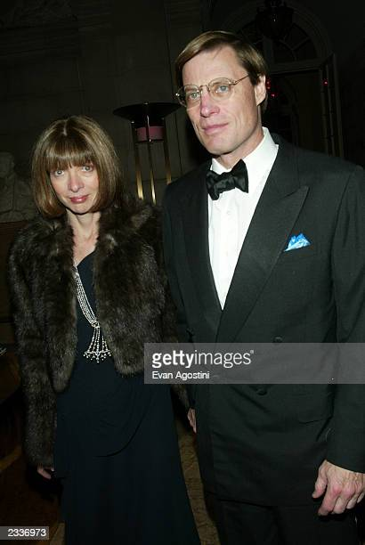 Anna Wintour and boyfriend Shelby Bryan attend the Christian Dior Couture sponsored party An Evening of Nouveau Glamour at The Frick Collection...