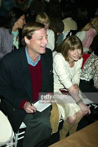 Anna Wintour and boyfriend Shelby Bryan during Diane Von Furstenberg Fall 2003 Collection at DVF Showroom in New York NY United States