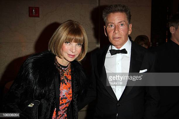 Anna Wintour and Calvin Klein attend the 27th Annual Night of Stars at Cipriani Wall Street on October 28 2010 in New York City