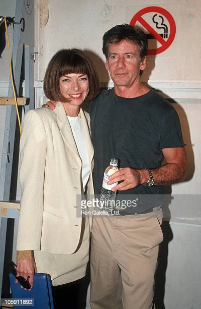 Anna Wintour and Calvin Klein during 1994 Fall Fashion Week - Calvin Klein Fashion Show at Bryant Park in New York City, New York, United States.
