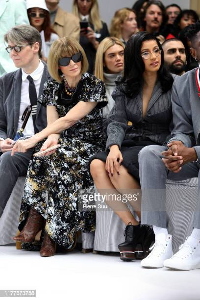 Anna Wintour and Cardi B attend the Thom Browne Womenswear Spring/Summer 2020 show as part of Paris Fashion Week on September 29 2019 in Paris France