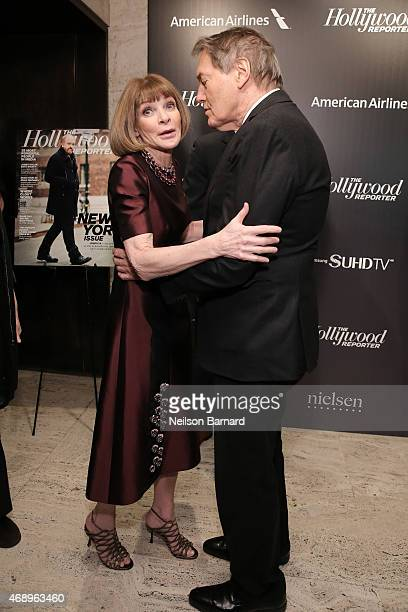Anna Wintour and Charlie Rose attend 'The 35 Most Powerful People In Media' celebrated by The Hollywoood Reporter at Four Seasons Restaurant on April...