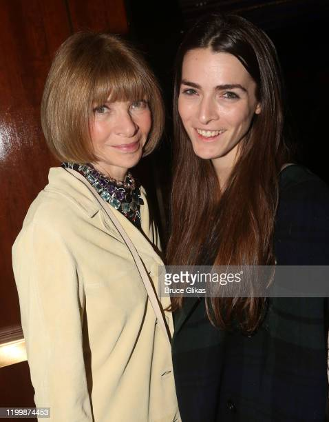 """Anna Wintour and daughter Bea Shaffer Carrozzini pose at the opening night of the new play """"My Name Is Lucy Barton"""" on Broadway at The Samuel J...."""