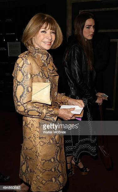 Anna Wintour and daughter Bee Shaffer attend the opening night performance of the Roundabout Theatre production of 'Therese Raquin' at Studio 54 on...