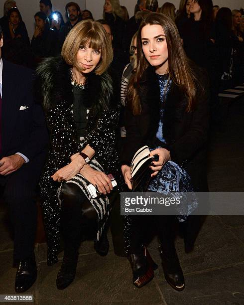 Anna Wintour and daughter Bee Shaffer attend the Proenza Schouler fashion show during MercedesBenz Fashion Week Fall 2015 at the Marcel Breuer...