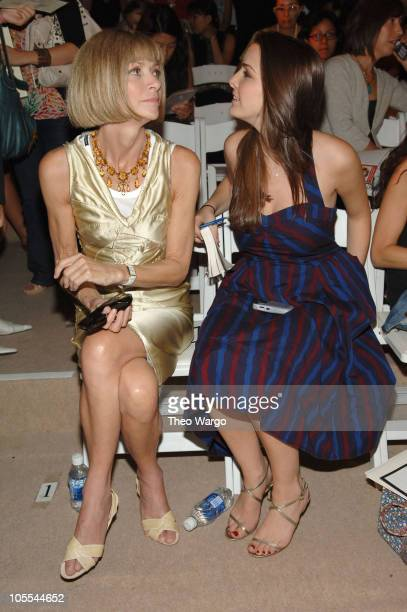 Anna Wintour and daughter Bee Shaffer during Olympus Fashion Week Spring 2006 - Temperley London - Front Row at Bryant Park in New York City, New...