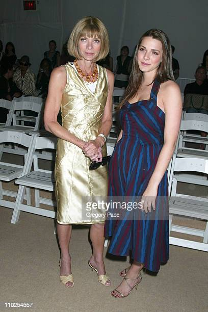 Anna Wintour and daughter Bee Shaffer during Olympus Fashion Week Spring 2006 - Temperley London - Front Row and Backstage at Bryant Park in New York...