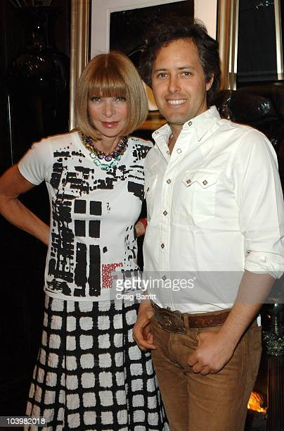 Anna Wintour and David Lauren at the Ralph Lauren celebration of Fashion's Night Out at Ralph Lauren Mansion on September 10, 2010 in New York City.
