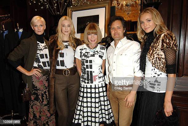 Anna Wintour and David Lauren with Ralph Lauren models at the Ralph Lauren celebration of Fashion's Night Out at Ralph Lauren Mansion on September...