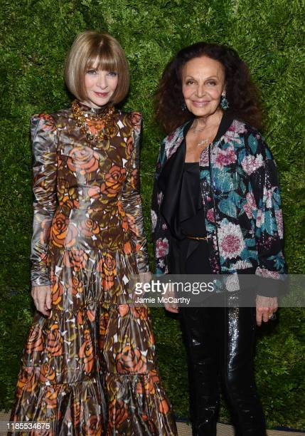 Anna Wintour and Diane von Furstenberg attend the CFDA / Vogue Fashion Fund 2019 Awards at Cipriani South Street on November 04 2019 in New York City