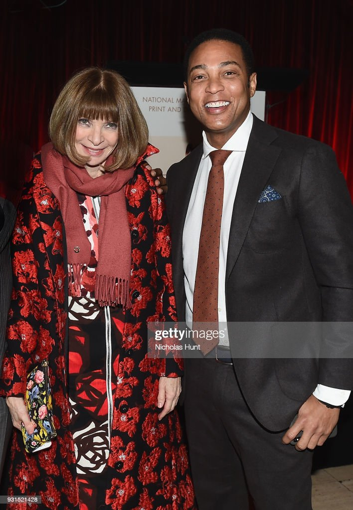 Anna Wintour (L) and Don Lemon attend the Ellie Awards 2018 on March 13, 2018 in New York City.
