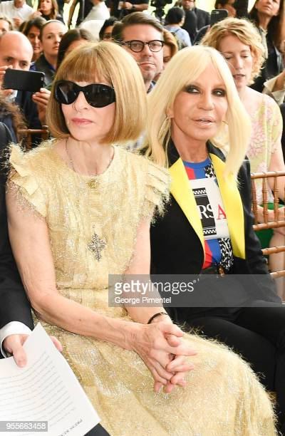 Anna Wintour and Donatella Versace attend the Heavenly Bodies Fashion The Catholic Imagination Costume Institute Gala Press Preview at The...