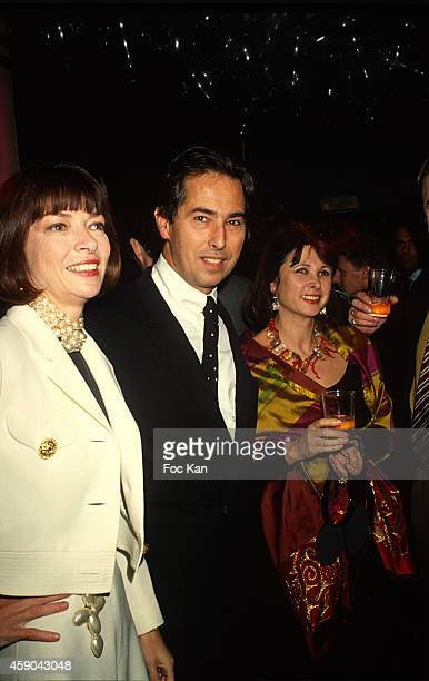Anna Wintour and Gilles Dufour attend the Victoire de Castellane Birthday Party at Les Bains Douches in January in Paris France